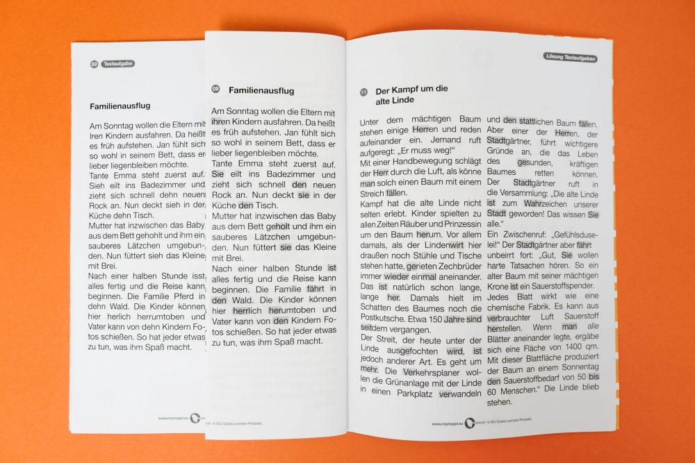 Gleicher Klang // Homophone Lernheft Textübungen