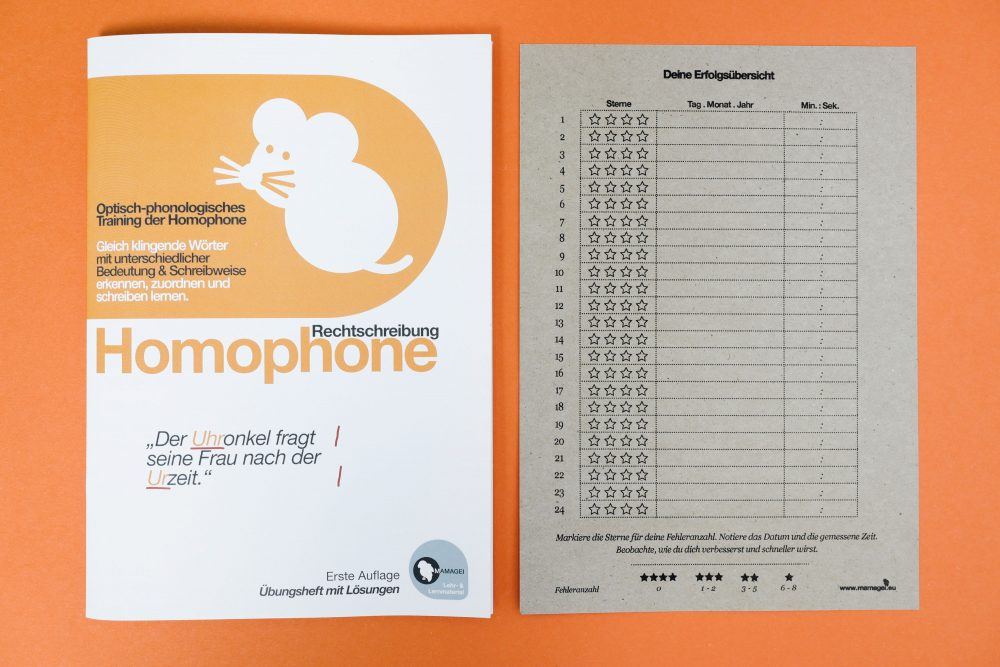 Gleicher Klang // Homophone Lernheft Erfolgsübersicht