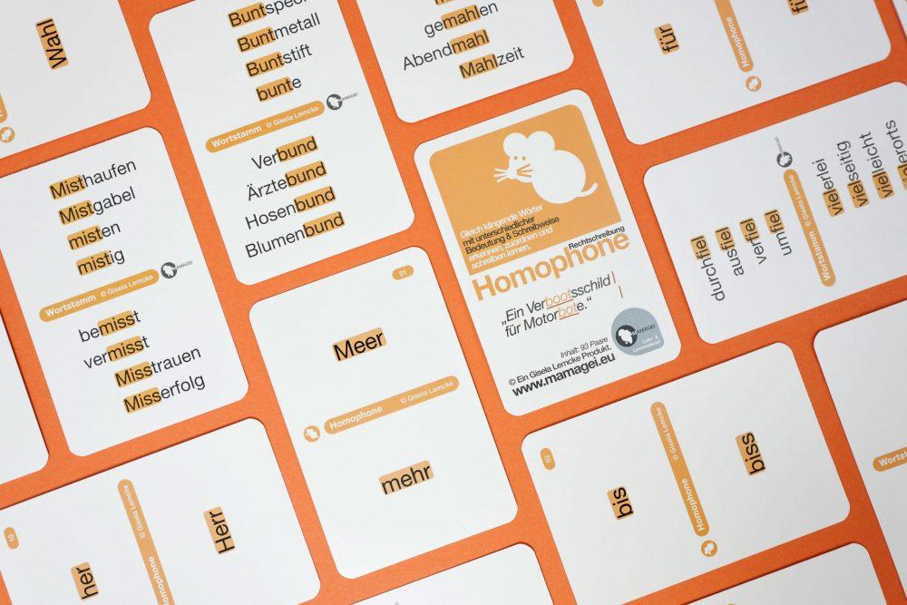 Gleicher Klang // Homophone Spielkarten
