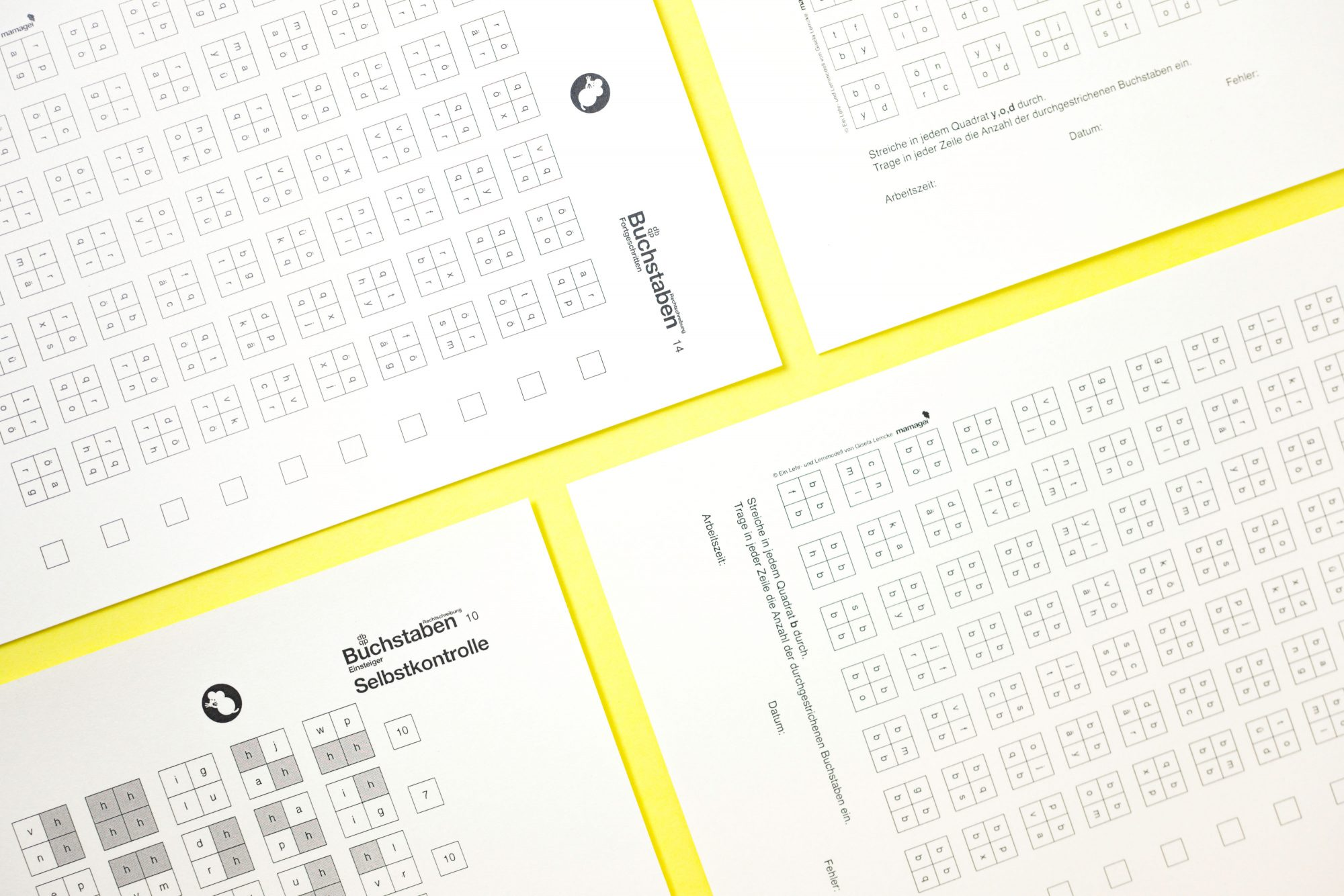Buchstaben Übungsblätter